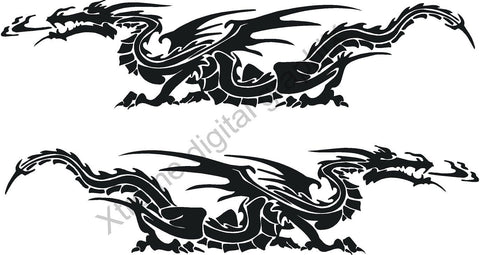 dragon vehicle decals kit