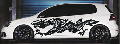 flaming dragon car decals