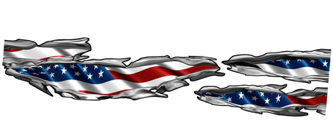 american flag tears auto decals