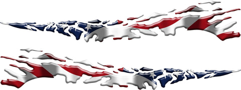 american flag auto decal kit b883
