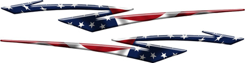 American Flag Stripes Car & Truck Side Decals 5ft & 6ft