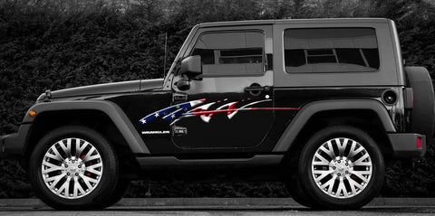 american flag jeep decal b731