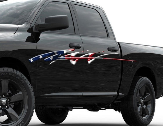 american flag ram decal b731