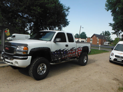 american flag side vehicle graphics