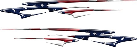 american flag stripes auto decals kit