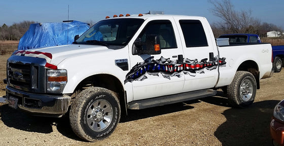 american flag tear decals on ford f350