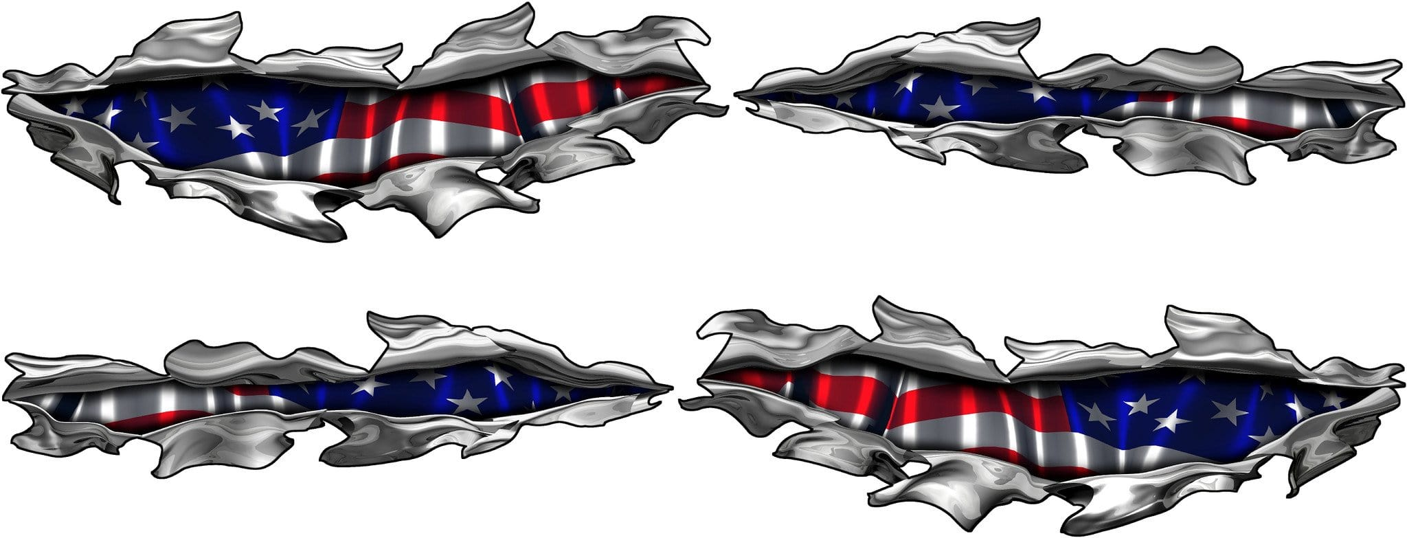 American Flag Truck Decals Boat Usa Flag Graphics