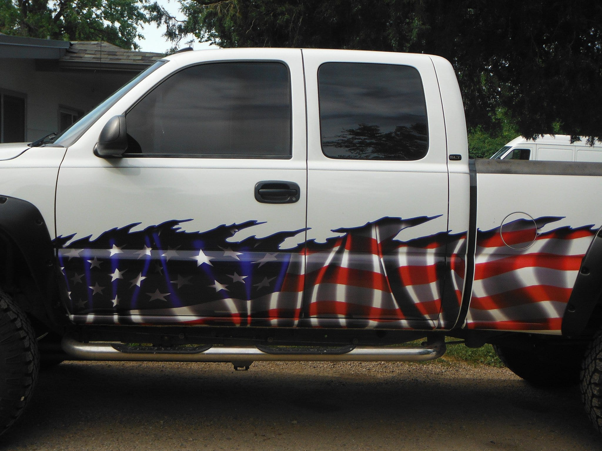 American Flag Half Wrap Xtreme Digital GraphiX - Truck decals and graphics