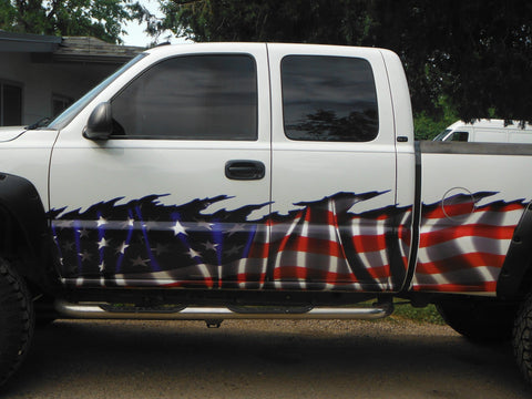 american flag truck decal graphics