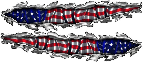 American flag decal kit