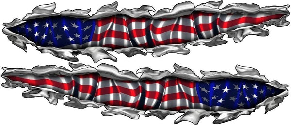 American Flag Boat Decals Xtreme Digital Graphix