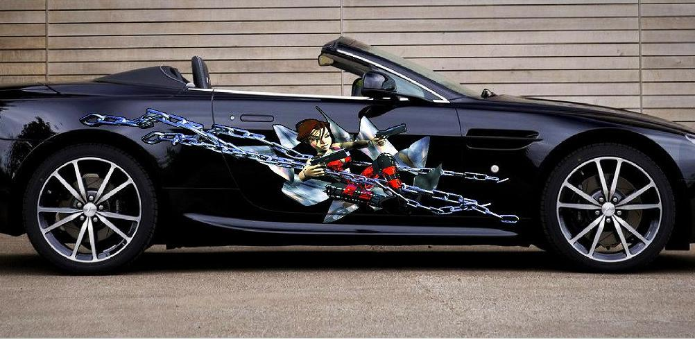 anime chain girl car graphics