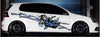 anime chain girl car side decal