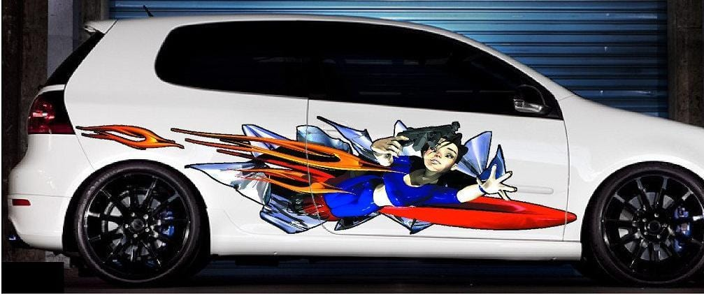 Anime Girl Auto Vinyl Decal Graphics Kit Xtreme Digital GraphiX - Decal graphics for carsvehicle graphics