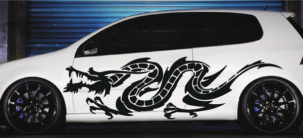 Asian Dragon Vinyl Vehicle Side Decal Xtreme Digital Graphix