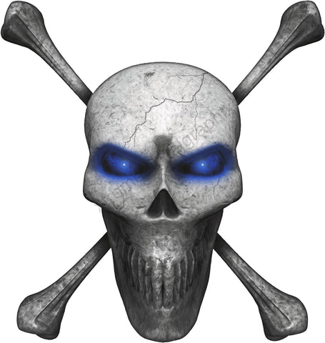 skull and bones vehicle decal