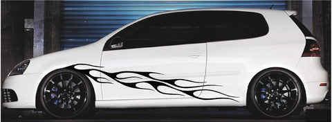 car decals side flames