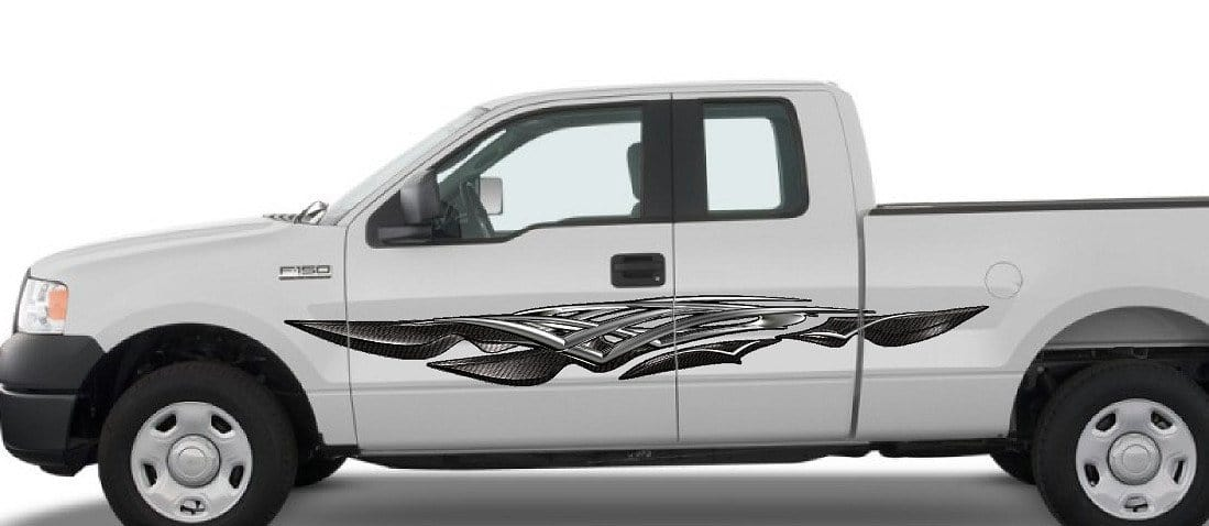 carbon fiber spears decals f150