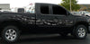carbon fiber tears decals on black truck