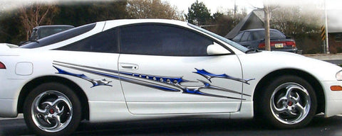cataclysm103 stripe decals on white car
