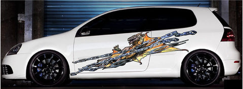 chained dragon car decals