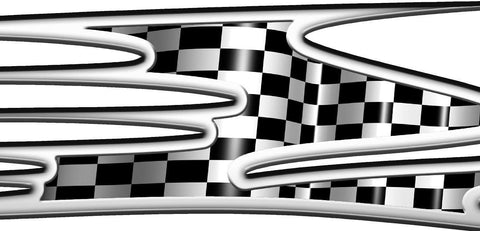 checker flag auto racing graphics