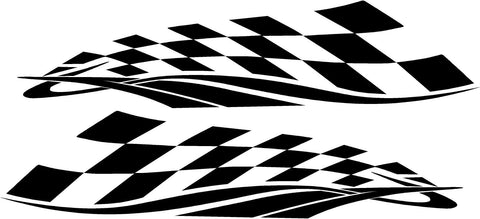 checkered flag vinyl racing decal kit