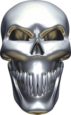 chrome skull auto decals