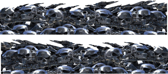 chrome skulls  car wrap
