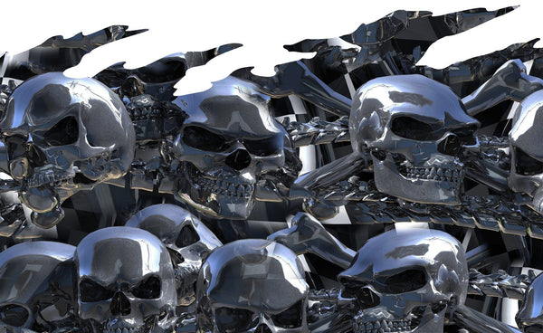 Chrome Skull Half Wrap For Cars Amp Trucks Xtreme Digital