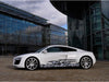 dragons vinyl half wrap on audi R8 car