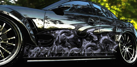 Dragon attack car side wrap