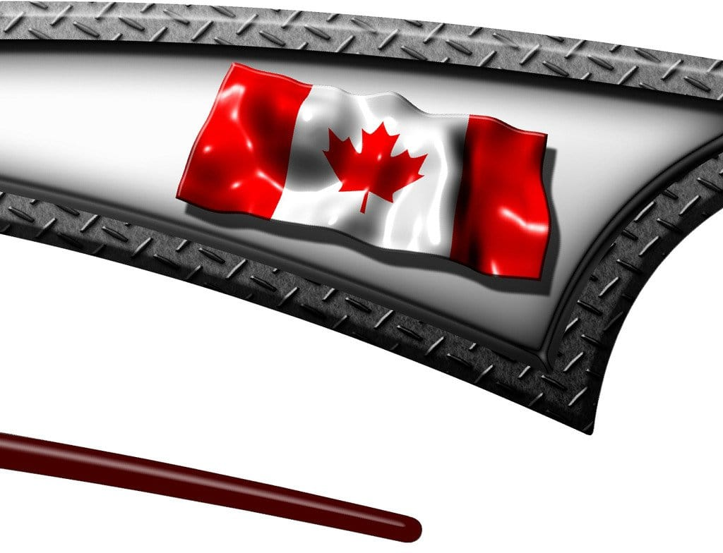 Canadian Stripes Truck Decals Semi Canada Flag Graphics Boat - Boat decals and stripes   easy removal