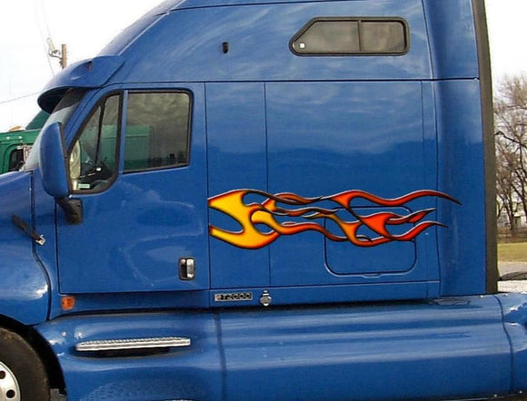 automotive flame decals