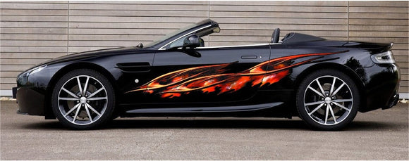 flaming spears auto decals