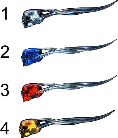 full color skull vehicle decals
