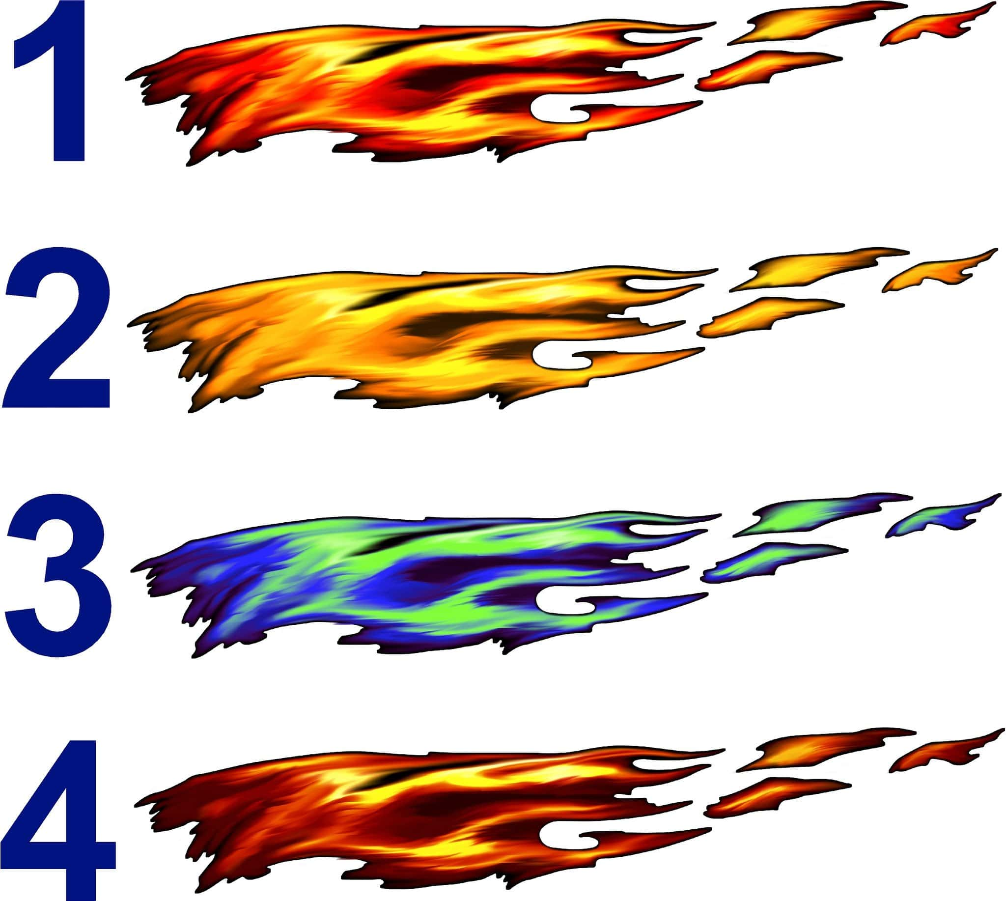 Car sticker design fire -  Decal Kit Full Color Fire Flame Variations