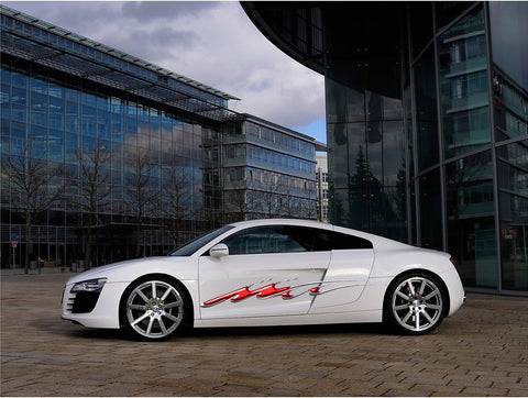 full color red audi graphics b745