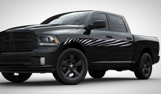 full color stripes dodge truck decals b975