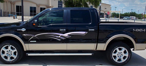 full color stripes truck decals b887