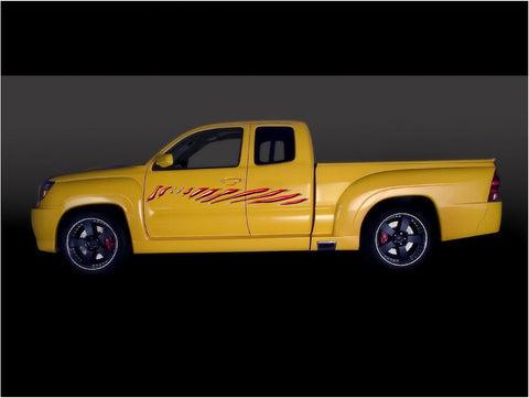 full color stripes yellow truck decals b975