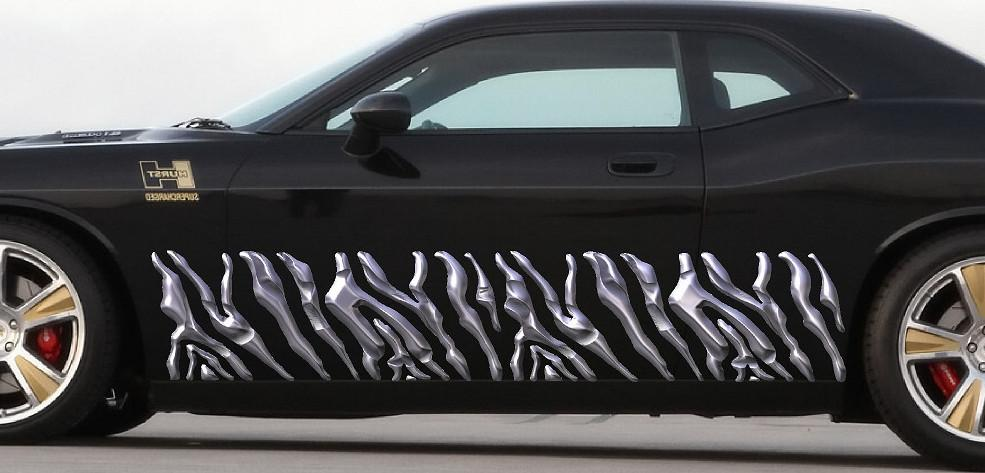 Zebra stripes vinyl auto graphic decals b888