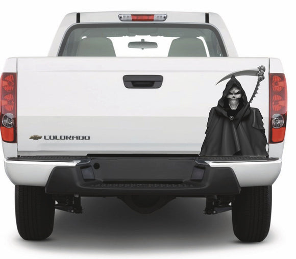 grim reaper vinyl decal for truck