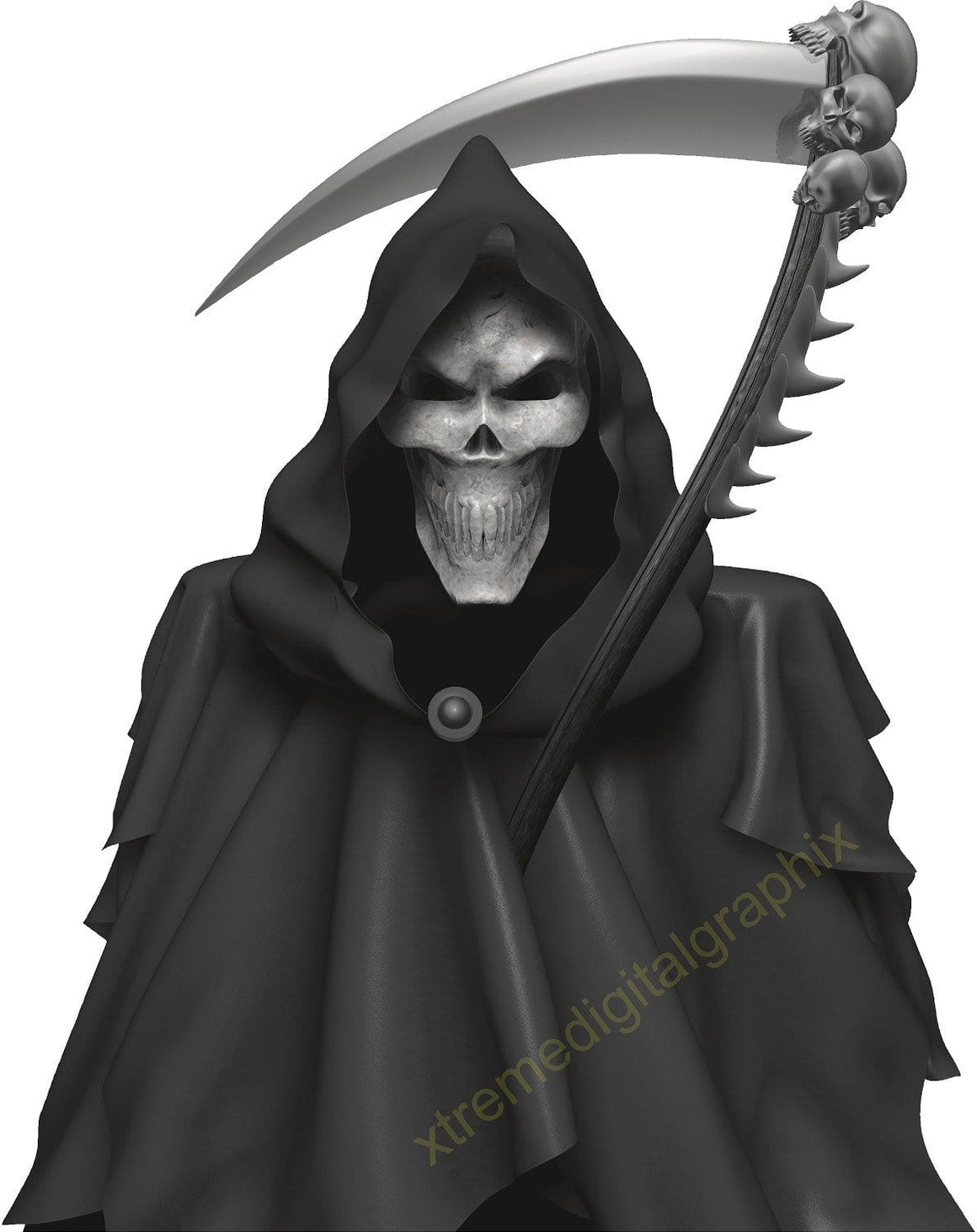 grim reaper skull decal