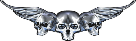 winged skulls vehicle decal