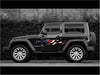 american flag splash vinyl graphics on black wrangler jeep