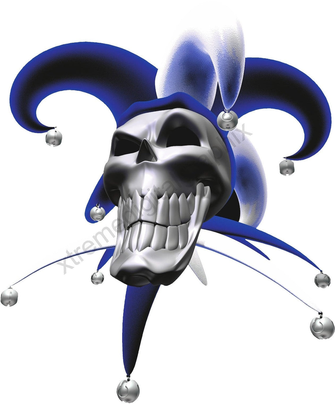 jester skull hood decal