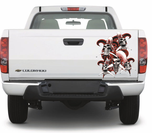 jester skull vehicle decal