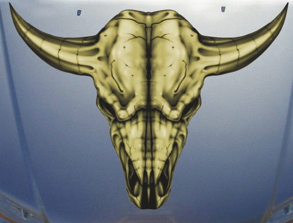 long horn vinyl decal for truck