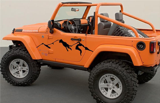 mountains vinyl decals on jeep wrangler